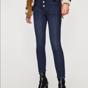 ZARA worn once, button fly skinny jeans